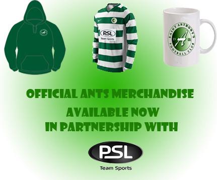 Visit our Club Shop and buy Official Ants Merchandise