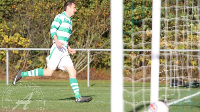 St Anthony's FC v Forres Thistle FC, Scottish Junior FA Cup Round 2The ball crosses the line
