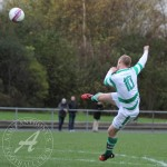 St Anthony's FC v Larkhall Thistle FC SJFA West Region Central District Division 1 14th November 2015  St Anthony's Midfielder Ronnie McDonald (10) skies a volley over the bar