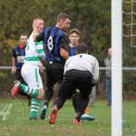 St Anthony's FC v Larkhall Thistle FC SJFA West Region Central District Division 1 14th November 2015  The Larkhall keeper gathers as The Ants look to increase their lead
