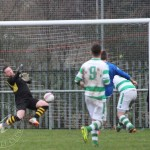St Anthony's FC v Carluke Rovers FC, 9th January 2016St Anthony's Goalkeeper Jonny Duncan (1) pulls off a cracking save as Carluke almost end a smart move with a goal